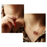 Wholesale - Wanying Elegant Drum Hollow Zircon Alloy Choker (600067)