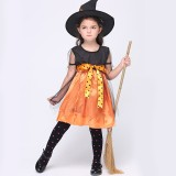Wholesale - Halloween Costumes for Girls Witch Cosplay Costume Set EK069