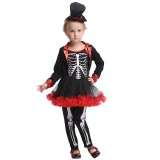 Wholesale - Halloween Costumes for Girls Skull Man Cosplay Costume Set EK180