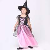 Wholesale - Halloween Costumes for Girls Witch Cosplay Costume Set EK125