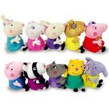 wholesale - Peppa Pig Plush Toys Peppa Family & Friends 10Pcs Set