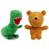 wholesale - Peppa Pig Plush Toys Peppa's Teddy & George's Dinosaur 2Pcs Set 17-19cm/6.7-7.5Inch