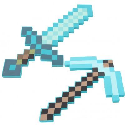 http://www.orientmoon.com/112212-thickbox/minecraft-foam-diamond-sword-pickaxe-figure-toys.jpg