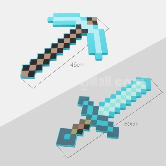 Minecraft Foam Diamond Sword / Pickaxe Figure Toys