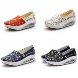Wholesale - Women's Canvas Platforms Slip On Sneakers Athletic Air Cushion Walking Shoes 1551