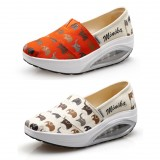 Wholesale - Women's Canvas Platforms Slip On Sneakers Athletic Air Cushion Walking Shoes 1558