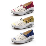 Wholesale - Women's Canvas Platforms Slip On Sneakers Athletic Air Cushion Walking Shoes 1553