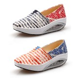 Wholesale - Women's Canvas Platforms Slip On Sneakers Athletic Air Cushion Walking Shoes 1557