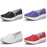 Wholesale - Women's Canvas Platform Slip On Sneakers Athletic Walking Shoes 9001-18