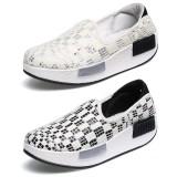 Wholesale - Women's Canvas Platform Slip On Sneakers Athletic Walking Shoes 111