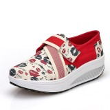 Wholesale - Women's Canvas Platform Slip On Sneakers Athletic Walking Shoes 9002-6