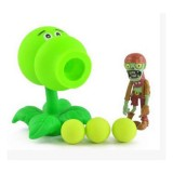 Wholesale - Plants Vs Zombies Action Figures Shooting Toys Gourd Shooter Set