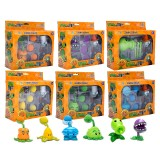wholesale - Plants vs Zombies Action Figure Toys Shooting Dolls in Gift Box