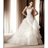 Wholesale - Mermaid One-shoulder Wedding Dress with Sweep Train