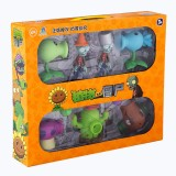 wholesale - Plants vs Zombies Action Figure Toys Shooting Dolls Peashooter Coconut Cannon Conehead Zombie 7-in-1 Set in Gift Box