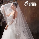 Wholesale - Luxurious Tulle Scalloped Edge Wedding veil With Sequin