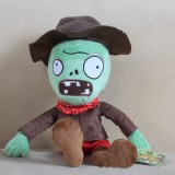 Plants Vs Zombies Plush Toys - New Green Cowboy Zombie 30cm/12Inch