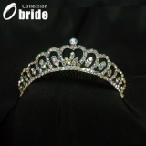 Wholesale - Gorgeous Alloy With Colorful Crystals Wedding Bridal Tiara