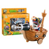 wholesale - Plants Vs Zombies Action Figure ABS Shooting Toy Model Pirate Ship