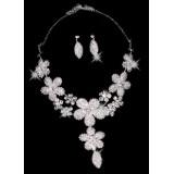 Wholesale - Gorgeous Alloy Rhinestone Wedding Bridal Necklace and Earrings Jewelry Set