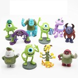 wholesale - 10Pcs Set Monsters University Action Figures PVC Kit Model Toys