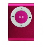 Wholesale - USB Rechargeable Mini Clip MP3 Player with Micro SD/TF Card Slot - Pink