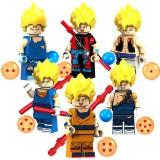 wholesale - Dragon Ball Lego Compatible Block Mini Figure Toys 6Pcs Set XP021-026