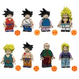 Wholesale - Dragon Ball Lego Compatible Block Mini Figure Toys 8Pcs Set PG1367-1374