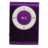 Wholesale - USB Rechargeable Mini Clip MP3 Player with Micro SD/TF Card Slot - Purple