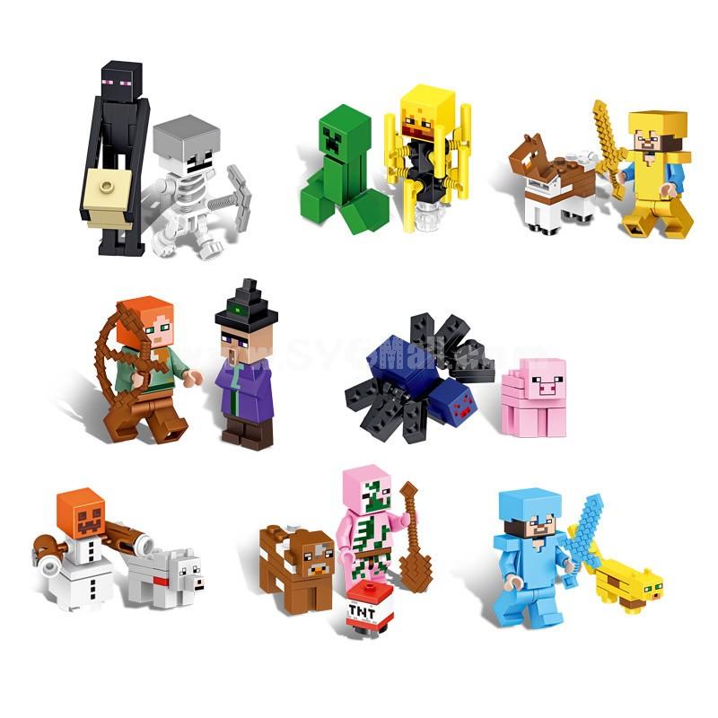 Minecraft Lego Compatible Building Block Toys 17Pcs Figures Set XL03