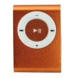 Wholesale - USB Rechargeable Mini Clip MP3 Player with Micro SD/TF Card Slot - Orange
