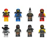 Wholesale - Ninjago Lego Compatible Building Blocks Mini Figure Toys 8Pcs Set A017-024