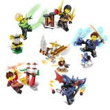 Wholesale - Ninjago Lego Compatible Building Blocks Mini Figure Toys 6Pcs Set JX1105