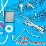 Wholesale - 5th Generation 4GB MP3 Player 2.2'' Screen Video Radio FM G-Sensor MP3 MP4 with HD 1.3MP Camera – Blue