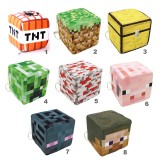 wholesale - Minecraft Plush Cube Stuffed Block Toys with Keychains 10cm/4Inch