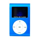 Wholesale - LCD Screen USB Rechargeable Mini Clip MP3 Player with Micro SD/TF Card Slot - Blue