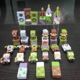 wholesale - 36Pcs Set MineCraft Mini Action Figure PVC Toys 6th Generation 2.5-3.5cm/1-1.4inch