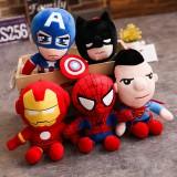 wholesale - 5Pcs Set Marvel's The Avengers Super Heroes Plush Toys Stuffed Dolls 25cm/10Inch