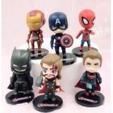 wholesale - 6Pcs Set Super Heroes Marvel's The Avengers Action Figures PVC Toys 8cm/3Inch