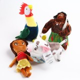Wholesale - Disney Moana Plush Dolls Stuffed Toys Moana Maui Heihei Pua 4Pcs Set 20-25cm/8-10Inch Tall