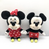 Wholesale - Mickey Mouse and Minnie Mouse Plush Toys Stuffed Dolls 2Pcs Set 18cm/7Inch