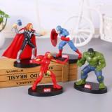 wholesale - 4Pcs Marvel The Avengers Super Heroes Iron Man Captain America Action Figure Toys 9.5cm/3.7Inch