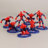 wholesale - 7Pcs Marvel The Avengers Spider-Man Action Figures Minifigure Toys with Boards 7cm/2.8inch