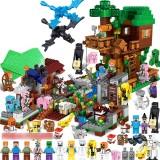 wholesale - Minecraft Lego Compatible Tree Houses Farm Building Block Toys Mini Figures Set 1288Pcs in Bucket A0005