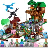 wholesale - Minecraft Lego Compatible Village Tree House Building Block Toys Mini Figures 1088Pcs Set A0001