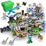 wholesale - MineCraft Lego Compatible Cave Mine with Trap Building Blocks Mini Figure Toys 1000Pcs in Bucket A0003