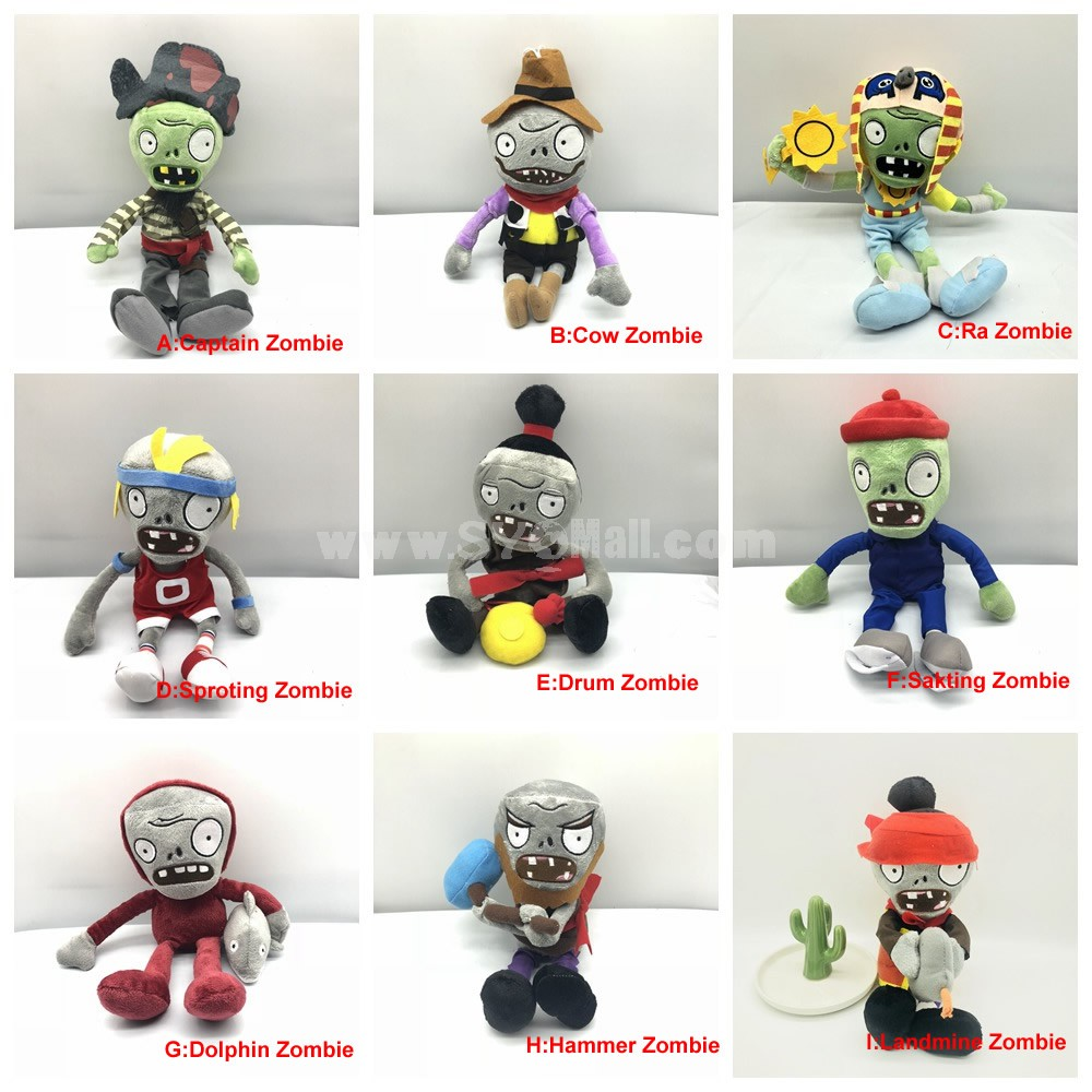 Plants Vs Zombie Plush Toys Stuffed Dolls Complete Collection of Zombies Part1
