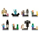 wholesale - 16Pcs Set MineCraft Lego Compatible Block Mini Figure Toys with Stand Boards 81066
