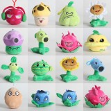 wholesale - 14Pcs Set Plants vs Zombies Plush Toys Stuffed Dolls Mini Size with Keychains 10cm/4Inches
