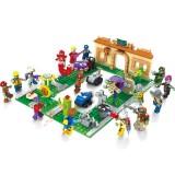 wholesale - Plants Vs Zombies Lego Compatible The Crazy Backyard Building Blocks Mini Figure Toys 687Pcs JX90086